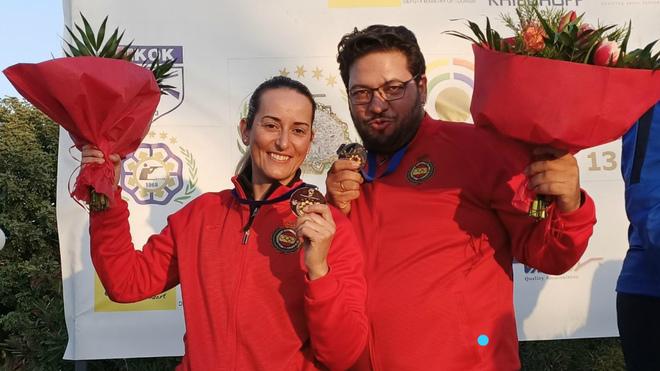 Fátima Gálvez y Alberto Fernández, plata en foso olímpico mixto en Nicosia